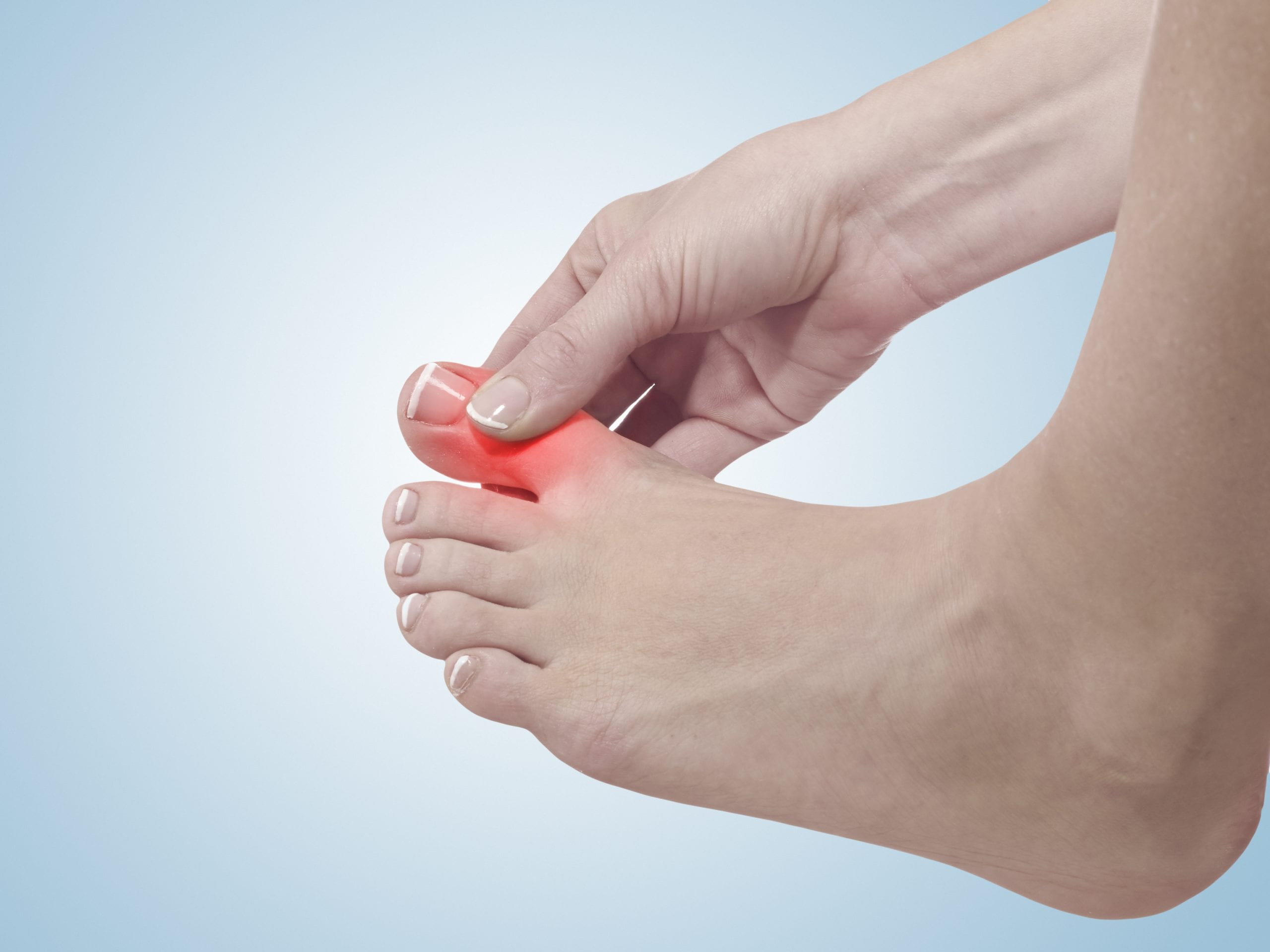 Cãibra nos dedos dos pés