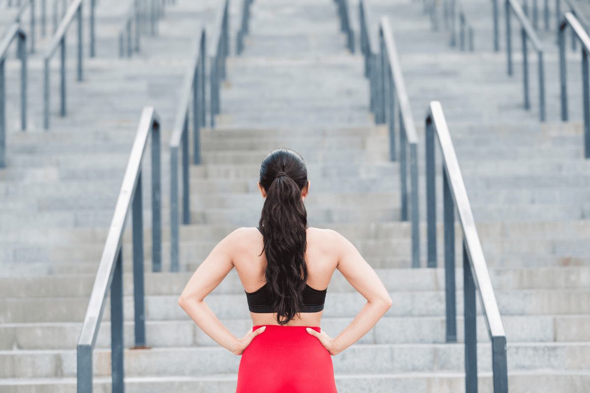 treino de escadas